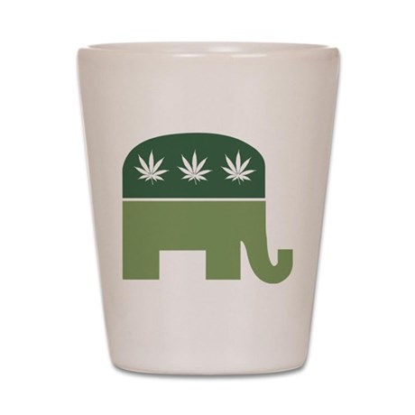 Green Republican Shot Glass