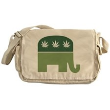 Green Republican Messenger Bag