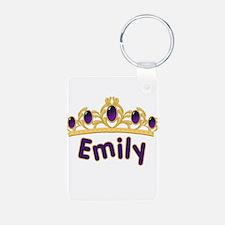 Princess Tiara Emily Personal Keychains