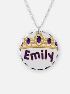 Princess Tiara Emily Personal Necklace