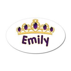 Princess Tiara Emily Personal 22x14 Oval Wall Peel