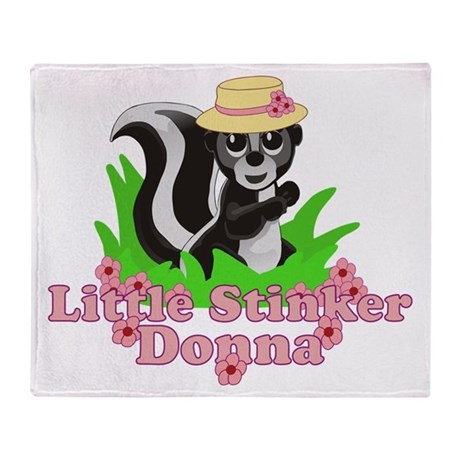Little Stinker Donna Throw Blanket