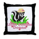 Little Stinker Donna Throw Pillow