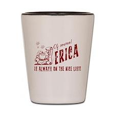 Nice List Erica Christmas Shot Glass