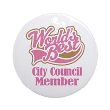 City Council Member Gift Ornament (Round)