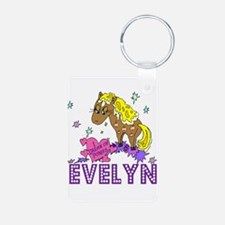 I Dream Of Ponies Evelyn Keychains