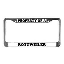 Property Of A Rottweiler License Plate Frame