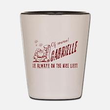 Nice List Gabrielle Christmas Shot Glass