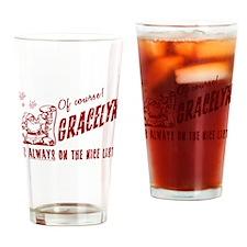 Nice List Gracelyn Christmas Drinking Glass