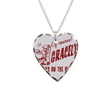 Nice List Gracelyn Christmas Necklace Heart Charm