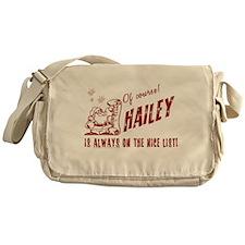 Nice List Hailey Christmas Messenger Bag