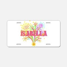 Sparkle Celebration Isabella Aluminum License Plat