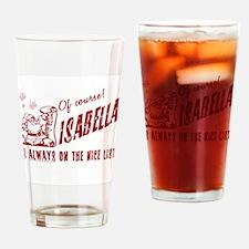Nice List Isabella Christmas Drinking Glass