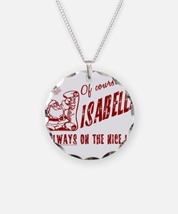 Nice List Isabella Christmas Necklace Circle Charm