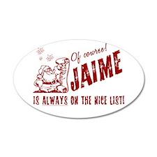 Nice List Jaime Christmas 22x14 Oval Wall Peel