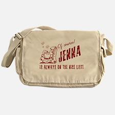 Nice List Jenna Christmas Messenger Bag