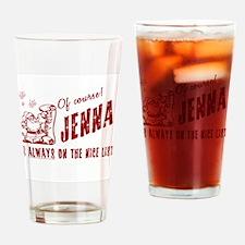 Nice List Jenna Christmas Drinking Glass