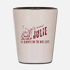 Nice List Julie Christmas Shot Glass