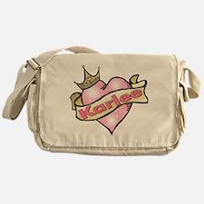 Princess Karlee tattoo heart Messenger Bag