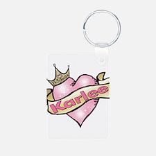 Princess Karlee tattoo heart Keychains