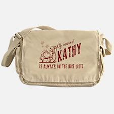 Nice List Kathy Christmas Messenger Bag