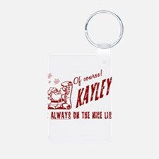 Nice List Kayley Christmas Keychains