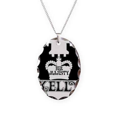 Her Majesty Kelly Necklace Oval Charm