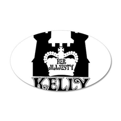 Her Majesty Kelly 38.5 x 24.5 Oval Wall Peel