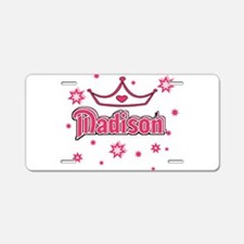 MADISON Princess Crown Star Aluminum License Plate