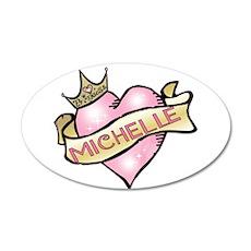 Sweetheart Michelle Custom Pr 22x14 Oval Wall Peel