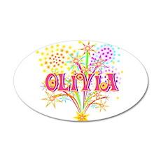 Sparkle Celebration Olivia 22x14 Oval Wall Peel