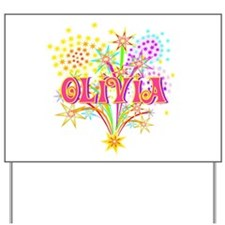 Sparkle Celebration Olivia Yard Sign