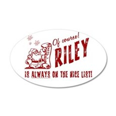 Nice List Riley Christmas 22x14 Oval Wall Peel