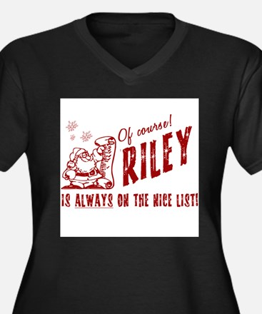 Nice List Riley Christmas Women's Plus Size V-Neck