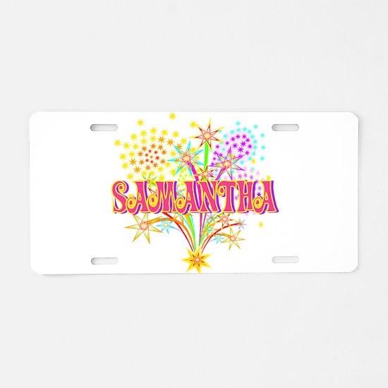 Sparkle Celebration Samantha Aluminum License Plat