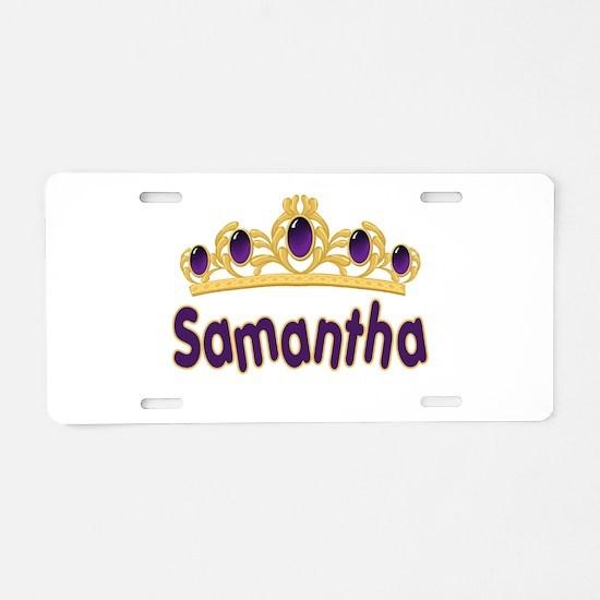 Princess Tiara Samantha Perso Aluminum License Pla