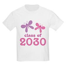 Sweet Class of 2030 Butterflies T-Shirt