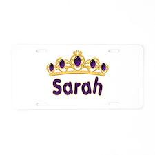 Princess Tiara Sarah Personal Aluminum License Pla
