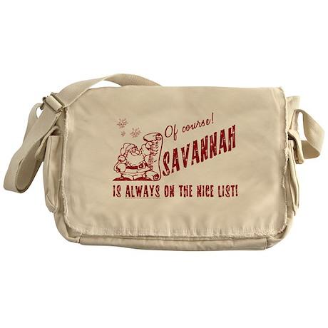 Nice List Savannah Christmas Messenger Bag