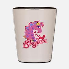 Skyler Loves Ponies Shot Glass