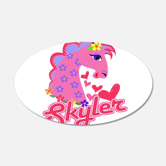 Skyler Loves Ponies 22x14 Oval Wall Peel