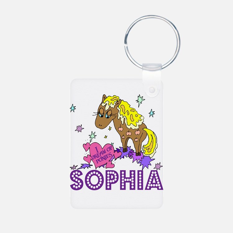 I Dream Of Ponies Sophia Keychains