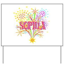 Sparkle Celebration Sophia Yard Sign