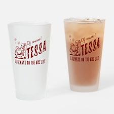 Nice List Tessa Christmas Drinking Glass