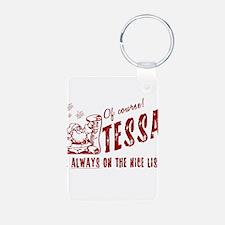 Nice List Tessa Christmas Keychains