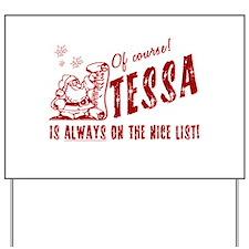 Nice List Tessa Christmas Yard Sign
