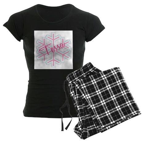 Snowflake Tessa Women's Dark Pajamas