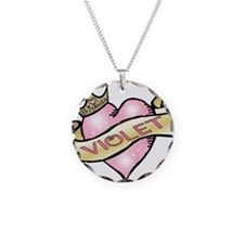 Sweetheart Violet Custom Prin Necklace