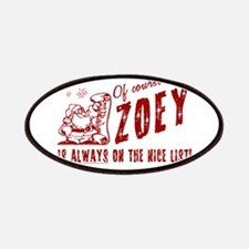 Nice List Zoey Christmas Patches