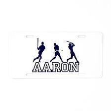 Baseball Aaron Personalized Aluminum License Plate